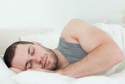 man sleeping on nectar mattress
